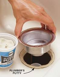 putty be placed on the sink