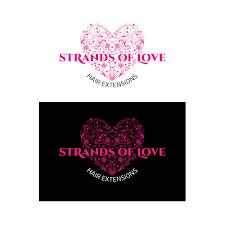 playful logo design for strands of love