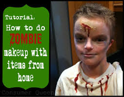 tutorial how to do zombie makeup with