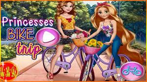 Chị bí đỏ chọn trang phục cho Rapunzel đi chơi bằng xe đạp ♥ Trò ...