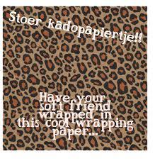 gift wrap leopard kraft knuffels à la