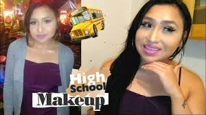 first day of high makeup tutorial