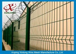 Boundary Wall Powder Coated Welded Wire Mesh Fence Panels Customized Size