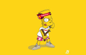 2 bart simpson supreme wallpapers top