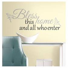 25 Bless This Home Peel And Stick Giant Wall Decals Gray Roommates Target