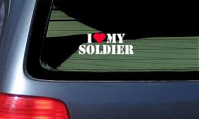 I Love My Soldier Vinyl Sticker Decal White With Red Heart Buy Online In Cambodia Stickermatic Products In Cambodia See Prices Reviews And Free Delivery Over 27 000 Desertcart