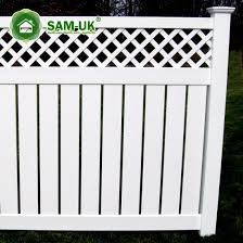 China 6 X 8 Modern Semi Private Vinyl Fence Lattice China White Vinyl Privacy Fence White Vinyl Privacy Fencing