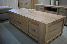next corsica light oak coffee table