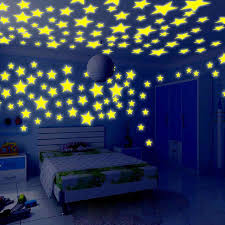 Wall Sticker 100pc Kids Bedroom Glow In The Dark Stars Wall Stickers Bedroom Decor Wall Stickers For Kids Rooms Drop Ship Wall Stickers Aliexpress