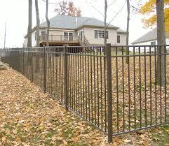 Bronze Aluminum Fence Backyard Fences Brick Fence Easy Fence