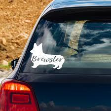Personalized Pembroke Welsh Corgi Vinyl Decal 904 Custom