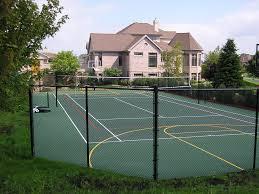 Backyard Game Court Construction Munson Inc