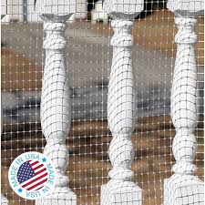 Amazon Com Kidkusion Deck Guard 16 L X 40 H Made In Usa Outdoor Balcony And Stairway Deck Rail Safety Net Clear Child Safety Pet Safety Toy