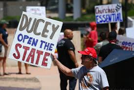 Protesters urge Gov. Ducey to reopen ...