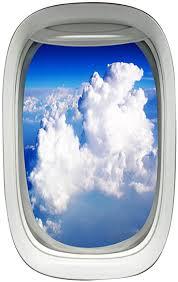 Amazon Com Airplane Window View Decal Wall Art Peel And Stick Aviation Wall Decor Airplane Stickers Vwaq Pw26 Home Kitchen