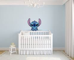 Lilo And Stitch Cute Disney Character Wall Art Graphic Decal Sticker Vinyl Mural Baby Kids Room Bedroom Nursery Kindergarten School House Home Wall Art Design Removable Peel And Stick 30x15 Inch