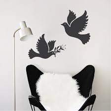 Freedom Birds Vinyl Decal Sticker Dove Birds For Walls High Quality Freedom Birds Bedroom Wall Decor Trendy Wall Designs