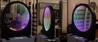 led infinity mirror wall displays