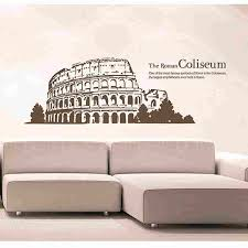 Colosseum Decal Landmark Roman Wall Stickers Decals Rome Poster Parede Home Decor Colosseum Sticker Wall Sticker Poster Paredesticker Decal Aliexpress