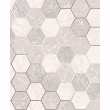 margaret rose gold marble hexagon