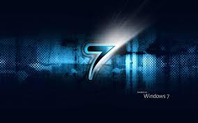 تحميل خلفيات خلفية زرقاء مايكروسوفت ويندوز شعار سبعة Se7en