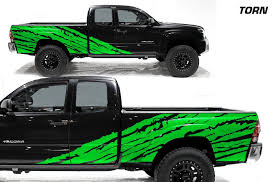 Toyota Tacoma 2d 2005 2015 Long Bed Custom Vinyl Decal Wrap Kit Halfside Torn Factory Crafts