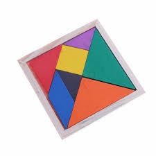 Tangram Bằng Gỗ Thông Minh Đồ Chơi Giáo Dục Ghép Cho Trẻ Em Đồ Chơi Trí Tuệ  Nhiều Màu Sắc Vuông Iq Tetris Trò Chơi 11*11*0.8 Cm|