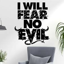 I Will Fear No Evil Heaven Hell Quote Fun Decal Wall Art Sticker Home Uk Ebay