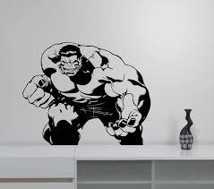 The Hulk Vinyl Wall Decal Removable Avengers Superhero Sticker Etsy