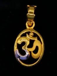aum pendant hindu religious om pendant