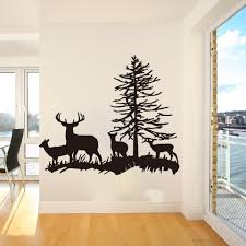 Large Deer Family Wall Sticker Bedroom Living Room Fawns Buck Forest Tree Wall Decal Nursery Kids Room Kitchen Vinyl Home Wall Stickers Aliexpress