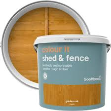 Goodhome Colour It Golden Oak Matt Fence Shed Stain 5l Departments Diy At B Q