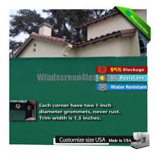 Windscreen4less Dark Green Standard 8ft By 10ft Privacy 90 Fence Screen Panel