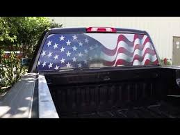 How To Install American Flag Truck Decals For Rear Window Video Guide Xplore Offroad Youtube