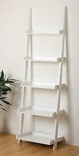 ehemco 5 tier leaning ladder wall shelf