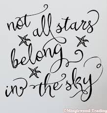 Not All Stars Belong In The Sky 12 X 12 Vinyl Decal Sticker Inspirational Minglewood Trading