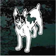 Cute Rat Terrier Decals Car Window Stickers Decal Junky