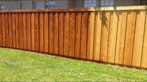 How We Stained Our New Cedar Wood Fence Youtube
