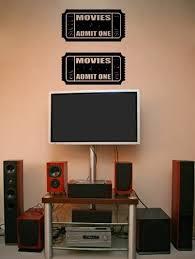 Amazon Com Big Movie Tickets Theater Vinyl Wall Art Decal Stickers Decor Graphics Furniture Decor