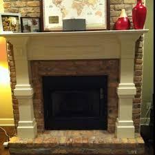 makeover a plain brick fireplace