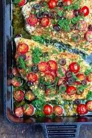 Baked Grouper with Tomatoes and Olives ...