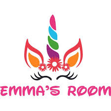 Colorful Unicorn Horn Flowers Girly Customized Wall Decal Custom Vinyl Wall Art Personalized Name Baby Girls