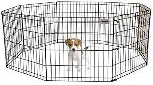 Amazon Com Petpremium Dog Puppy Playpen Pen Indoor Outdoor Exercise Play Yard Outside Pet Small Animal Puppies Portable Foldable Fence Enclosures 24 Height 8 Panel Metal Wire Black Pet Supplies