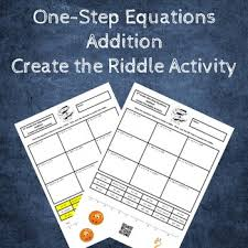 solving one step equations create the