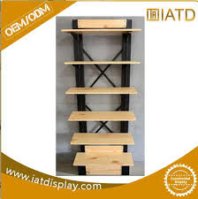 moving wooden glass display books rack