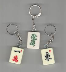 keychains standard mah jongg tiles