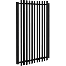 Slatfence 1 2m High Aluminium Pool And Garden Gate That Uses Vertical Angle Slats To Create Semi Privacy In Style