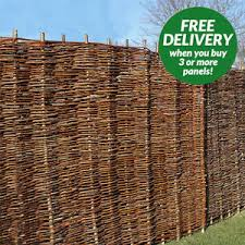 Fencing Garden Fence Wooden Willow Hurdle Weave Panel Twig 6ft 5ft 4ft 4ft 3ft Ebay