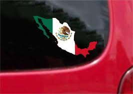 Mexico Outline Map Flag Vinyl Decal Sticker Full Color Weather Proof Customvinyldecals