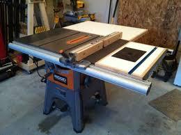 Ridgid R4512 Ts Shop Built Folding Outfeed Table Router Insert By Nwbusa Lumberjocks Com Woodworking C Diy Router Table Table Saw Router Table Plans